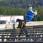 Ironworker welding at the project in Fort McMurray
