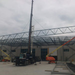 Erection of structural steel structure