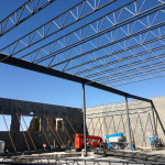 Erection of joists and structural steel by our ironworkers