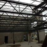 Structural steel was fabricated in the shop located in Surrey, BC