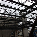 Structural steel fabrication of 2 storey office in Richmond, BC