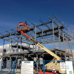 Steel Erection of free standing structural steel frame