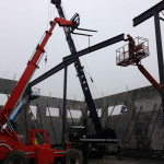 Structural Steel Erecion using all sorts of equipment