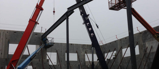 Rosh Metal Ltd – Structural Steel Fabrication and Erection in Richmond, BC, Canada. Project: Kwong Fung Foods (ICConcepts)