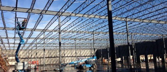 Structural Steel Fabrication and Installation of 60,000 sq.ft. Building in Richmond for Gateway Pacific Business Centre Bldg A (Integrated Construction)